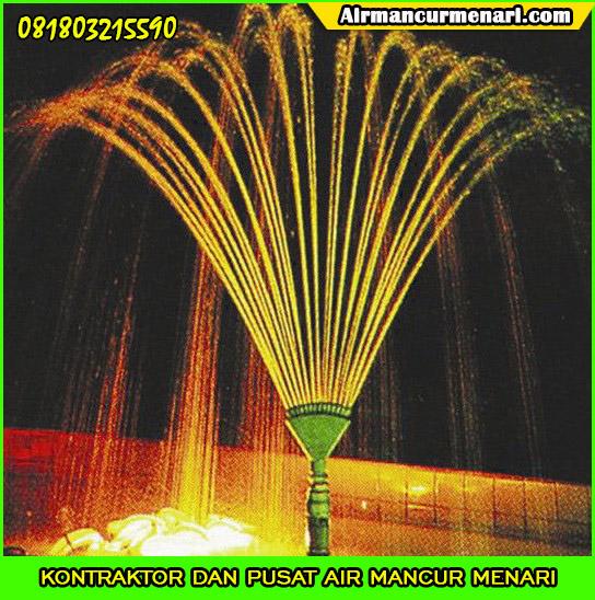 Contoh hasil nozzle air mancur phoenix tale