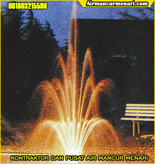 Contoh pengaplikasian nozzle air mancur menari adjust blossom
