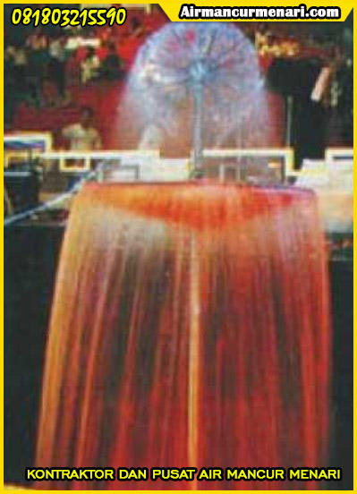 Hasil pengaplikasian nozzle air mancur
