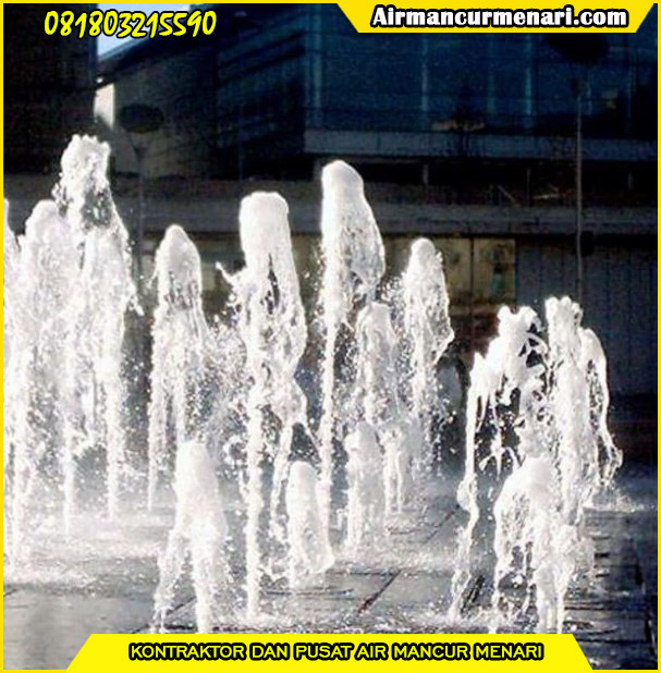 Pengaplikasian nozzle air mancur frothy nozzle