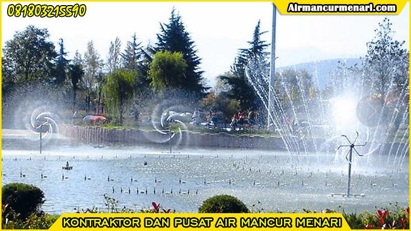 Pengaplikasian nozzle air mancur rotating