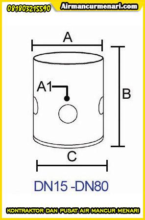 Ukuran nozzle cup buble murah